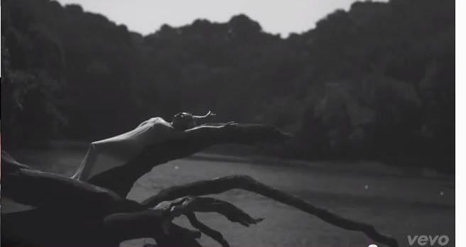 Kylie Minogue in her pop video 'Flower', Frenchman's Creek, Cornwall