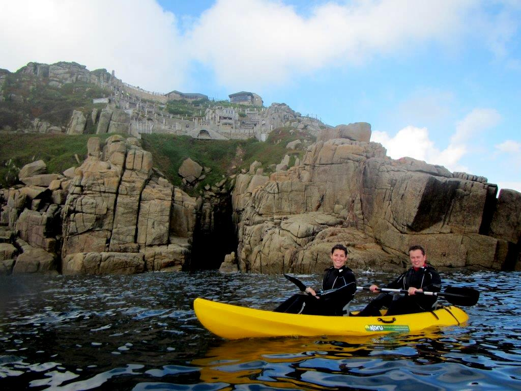 Kayaking Minack theatre