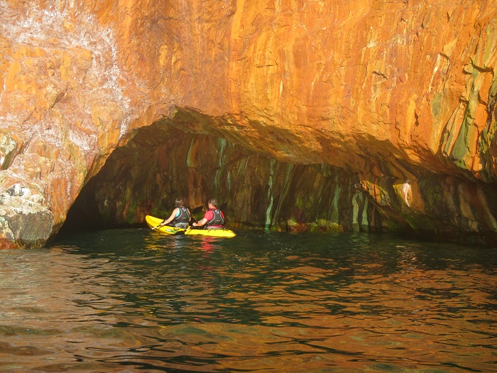 Orange Cave, Hanover Cove, St Agnes Coastline, Cornwall
