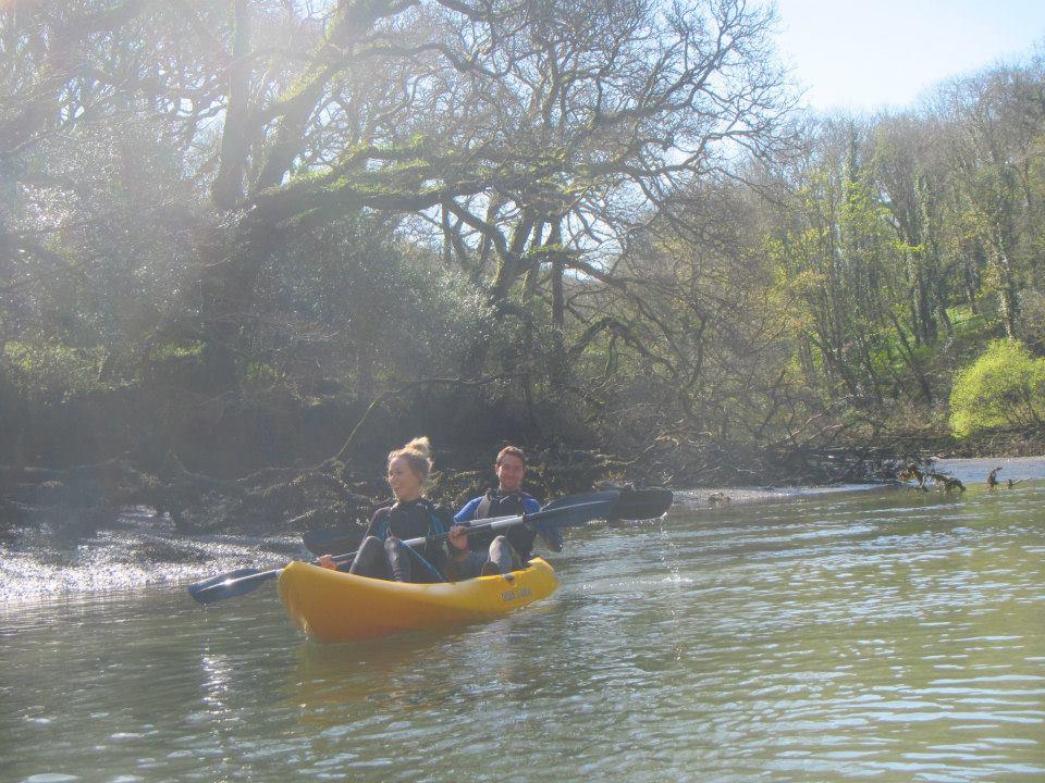 kayaking down the creek