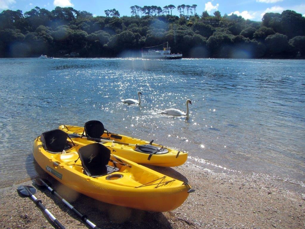 Secluded beaches Helford River, Frenchmans Creek Kayak Adventure , Koru Kayaking, Budock Vean Hotel