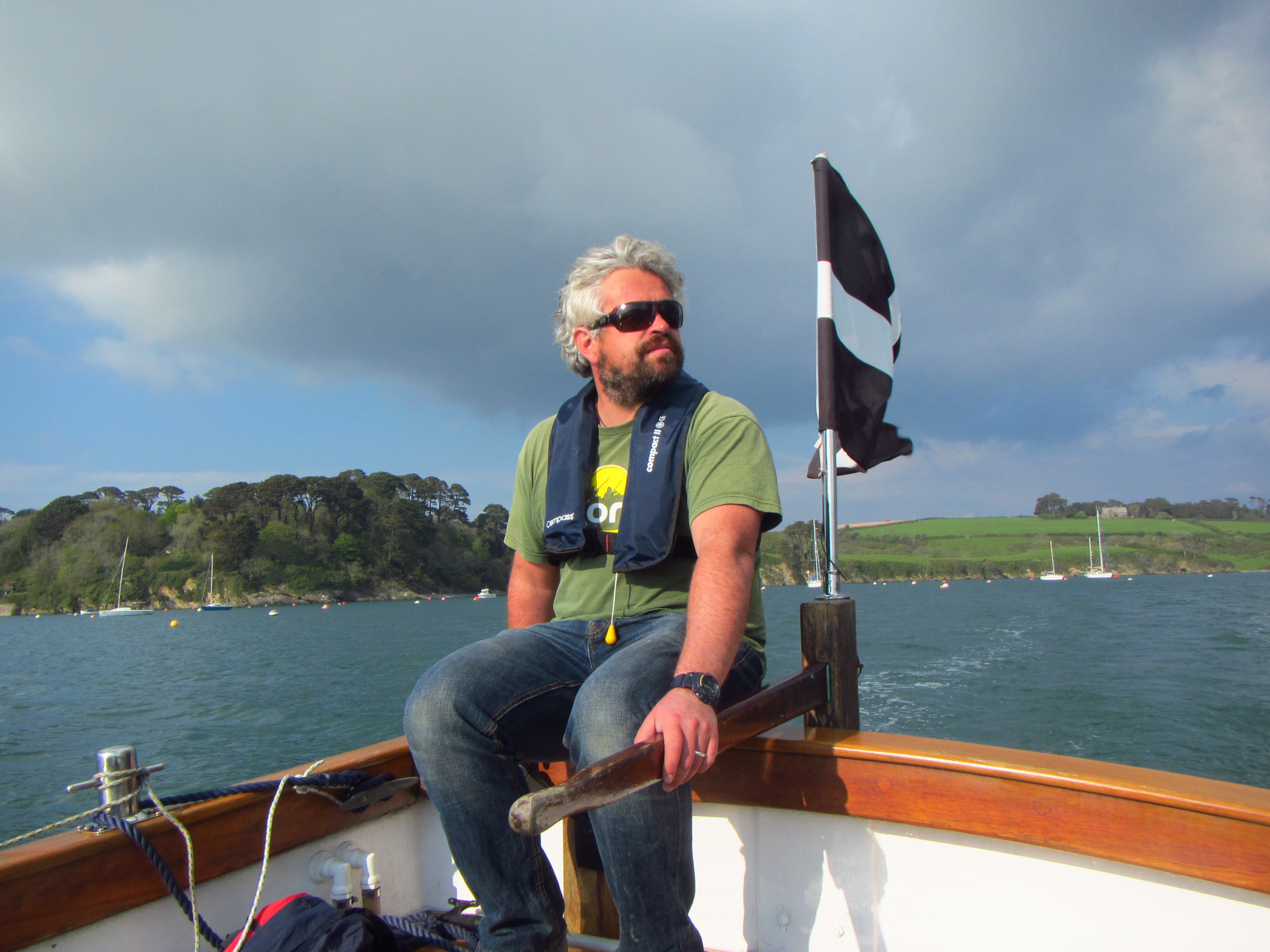 Helford River Cruises, Tom Wildblood driving 'Hannah Molly'