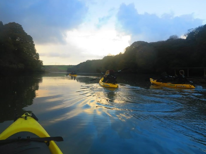 Koru Kayaking, Frenchman's Creek , November, Autumnal colours, Cornwall
