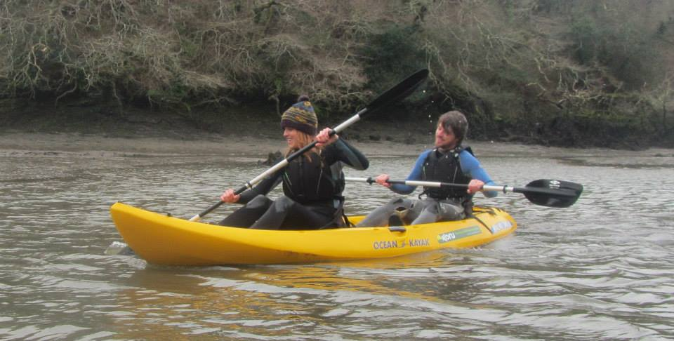 Donna & Liam, Koru Kayaking, Frenchman's Creek, Cornwall