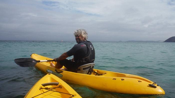 tom on kayak