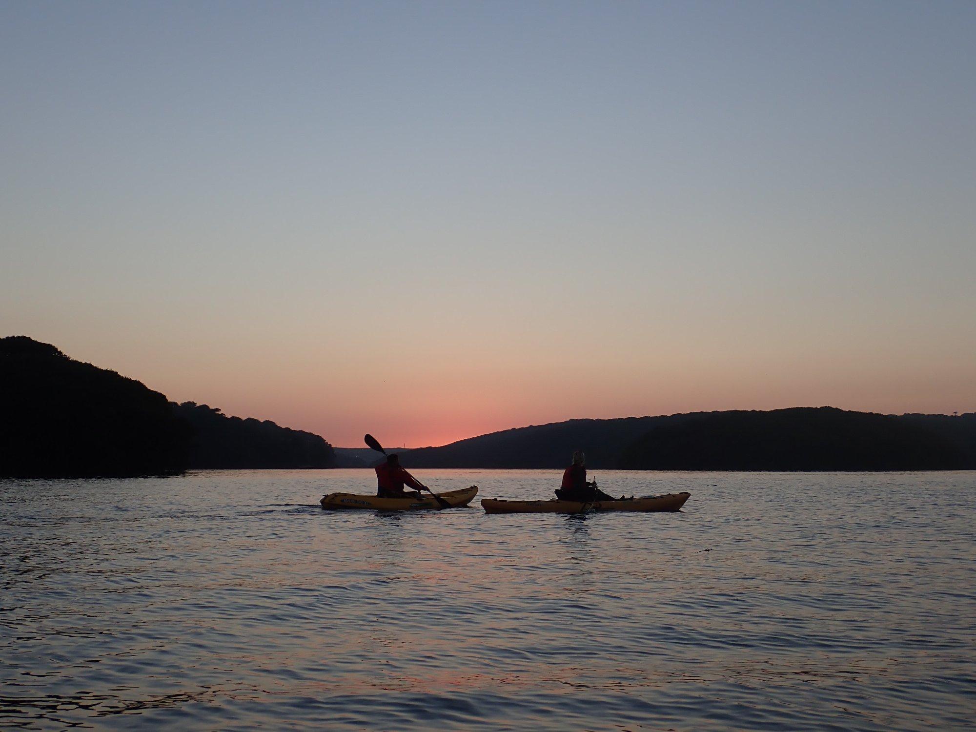 Autumnal Sunset Kayak Adventure