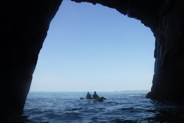 4 April Kayaking in to caves, Polberro Mine, St Agnes Coastline, Conrwall 2