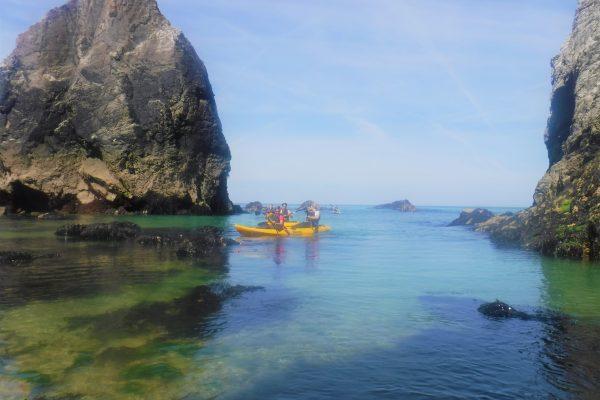 7 July Kayaking around Cligga and Hanover Cove, St Agnes Coastline, Cornwall