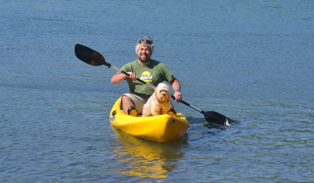 Ralphie – The first dog joins Koru on a Kayaking Adventure