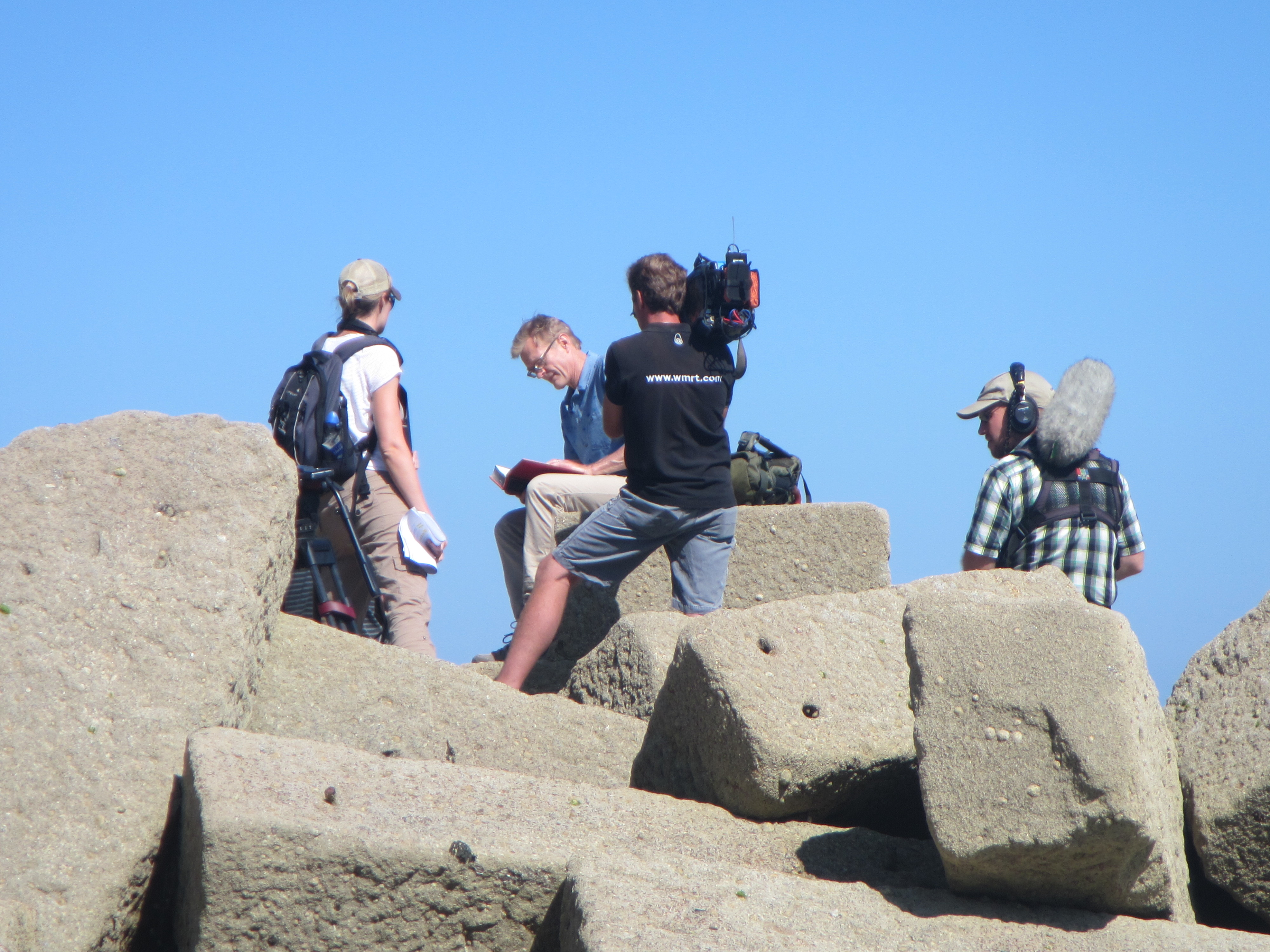 BBC2's Coast were filming at Trevaunance Cove, St Agnes today!