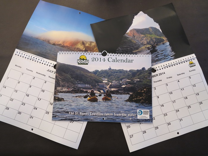 "Koru Calendar 2014 ""The St Agnes Coastline taken from the water"""