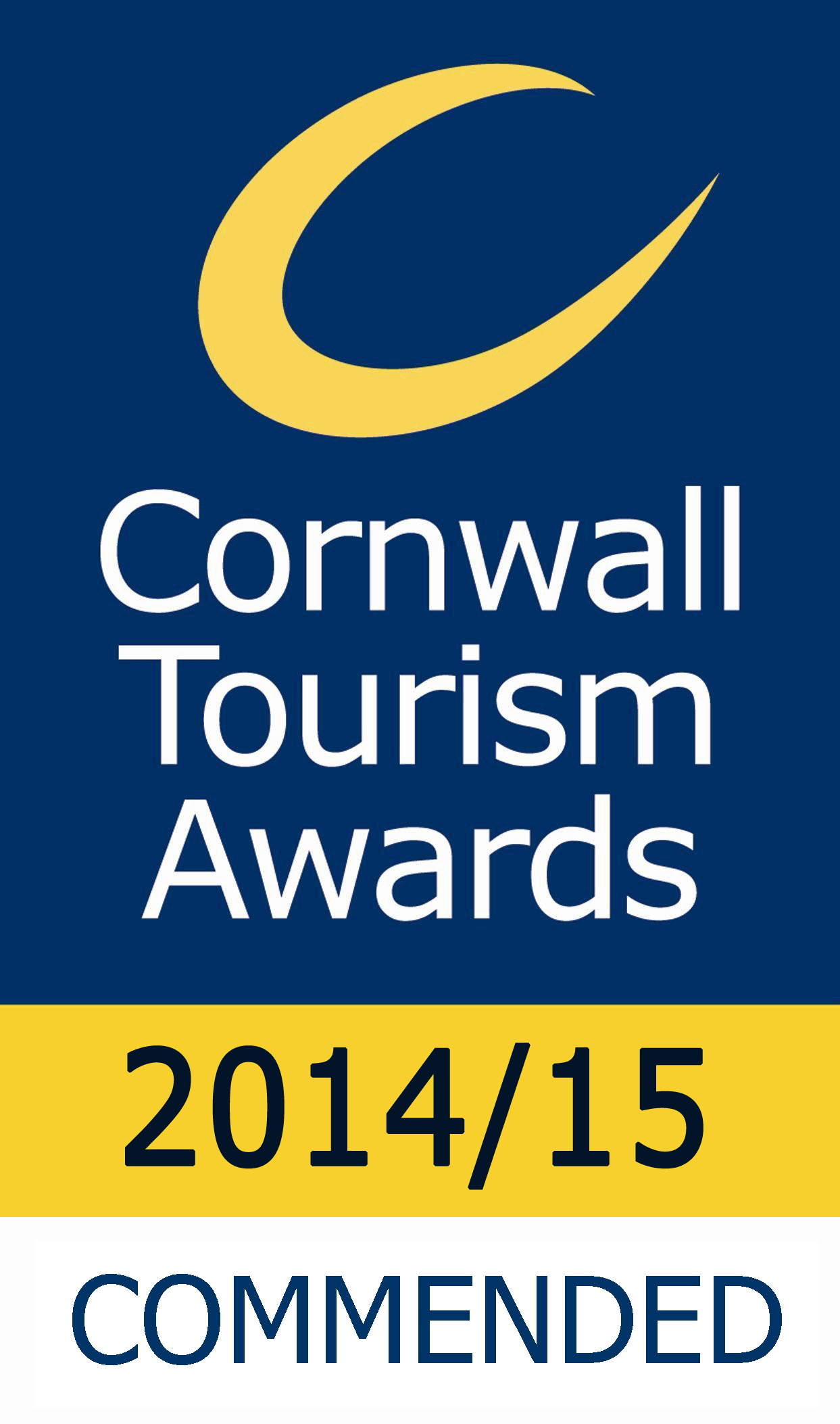 Koru Commended in Cornwall Tourism Awards 2014/15
