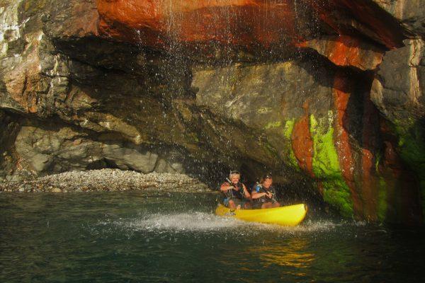 6 June - Kayaking under waterfalls, St Agnes Coastline