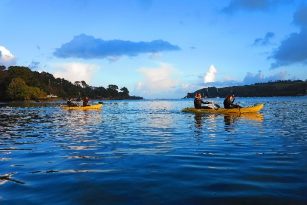 kayaking along the helford