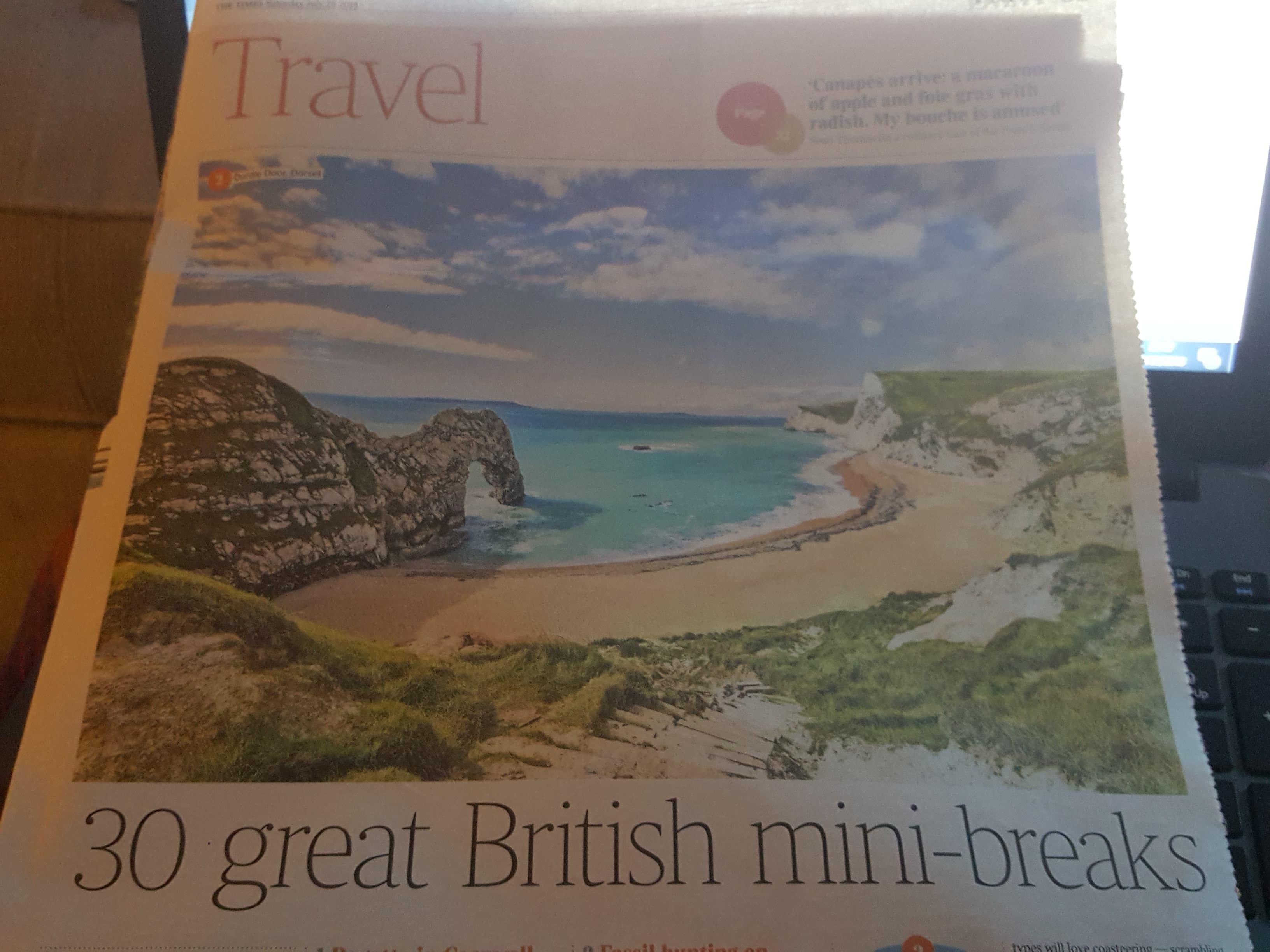 Koru's Frenchman's Creek Kayak Adventure featured in The Times