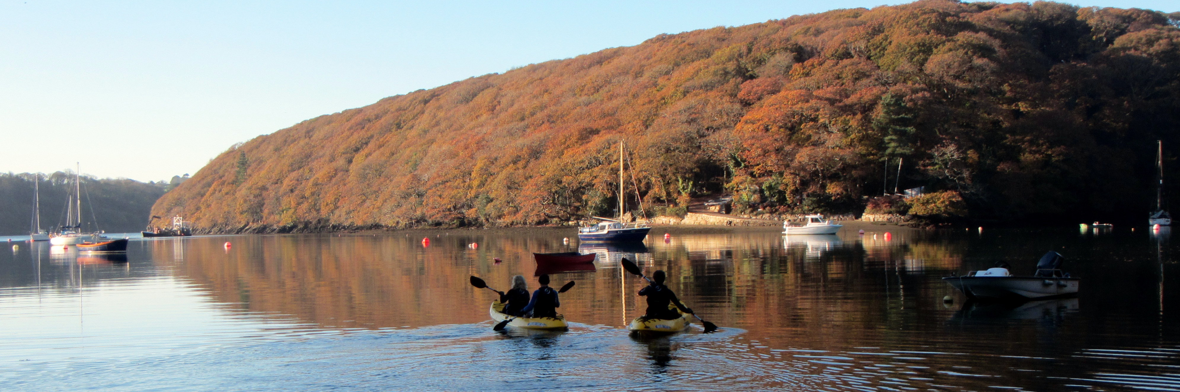Autumnal colours on the Helford