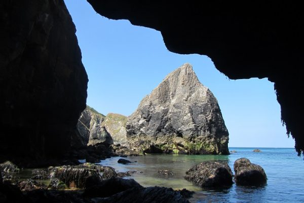 View from a cave, Hanover Cove, St Agnes Coastline, Cornwall